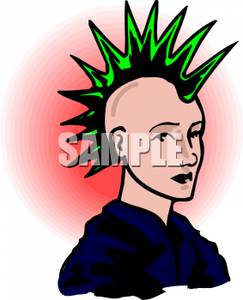 Mohawk clipart spiky hair A Mohawk Free Green with