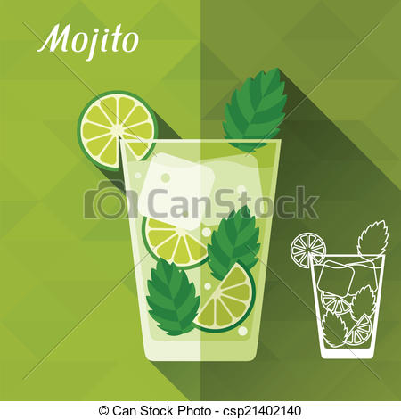 Mojito clipart Illustrations 1  flat glass
