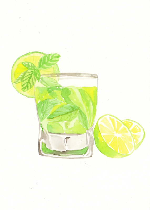 Mojito clipart Media pencils £19 Mojito Painting