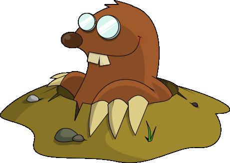 Mole clipart #7