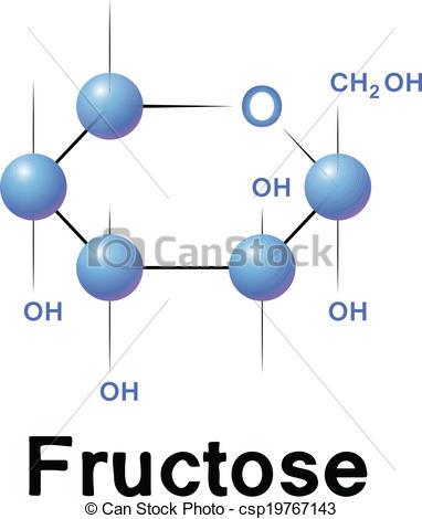 Molecule clipart simple Vector  molecule Fructose csp19767143