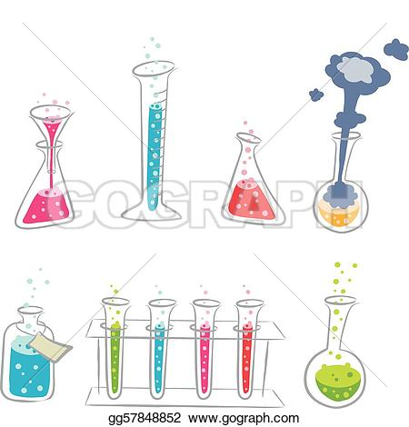 Molecule clipart butter Colorful chemistry of  cartoony