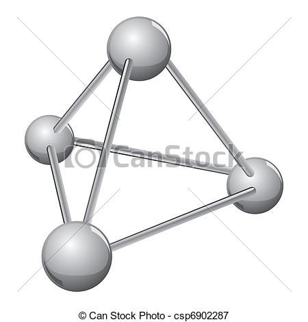 Molecule clipart simple Vectors molecule simple of silver