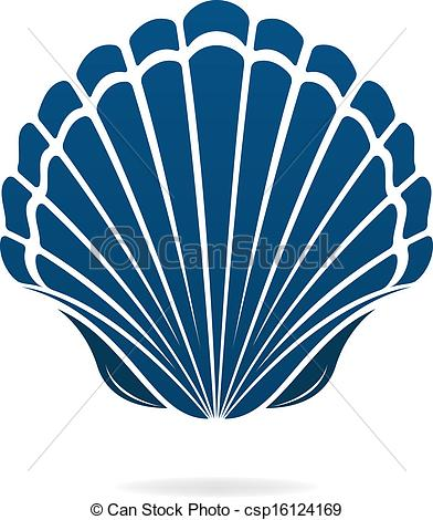 Mollusc clipart blue seashell Vector Clip Scallop mollusks of
