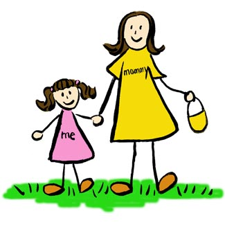 Mommy clipart Mommy Daughter Clipart And Clipart