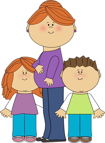 Mommy clipart her Pregnant Momy with Art Images