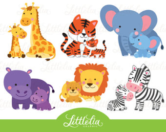 Mommy clipart baby animal LittleLiaGraphic from and 16025 baby
