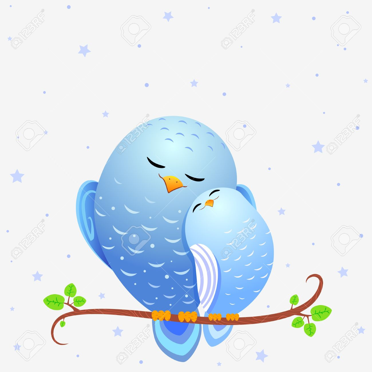 Bird clipart mother and baby Cute birds clipart baby cute