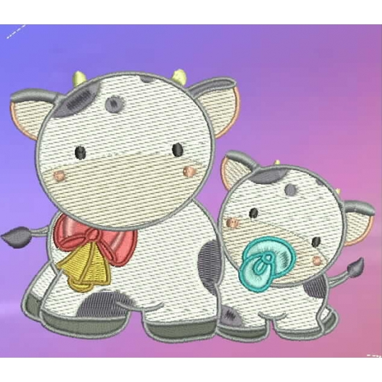 Mommy clipart baby cow Baby Mom Cow and Mom