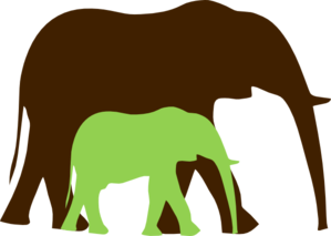 Mommy clipart baby elephant Art at Baby And Elephant