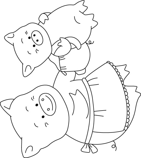 Mommy clipart baby pig Free Baby coloring Baby and