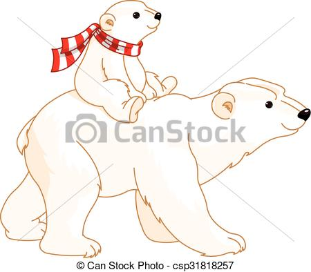 Mommy clipart bear Polar Clipart Bear csp31818257 Mom