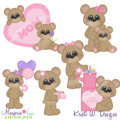Mommy clipart bear Clipart Files Cutting  Love