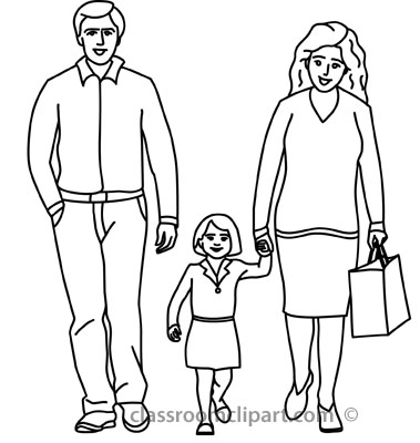 Monochrome clipart father For Pictures mother_holding_childs_hand_with_father_outline Father From: