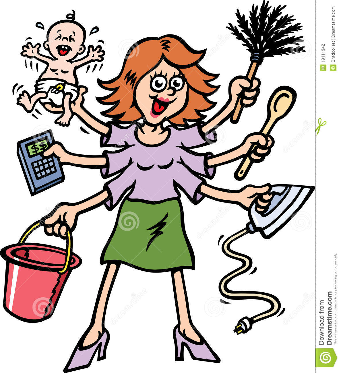 Mommy clipart busy mom #4