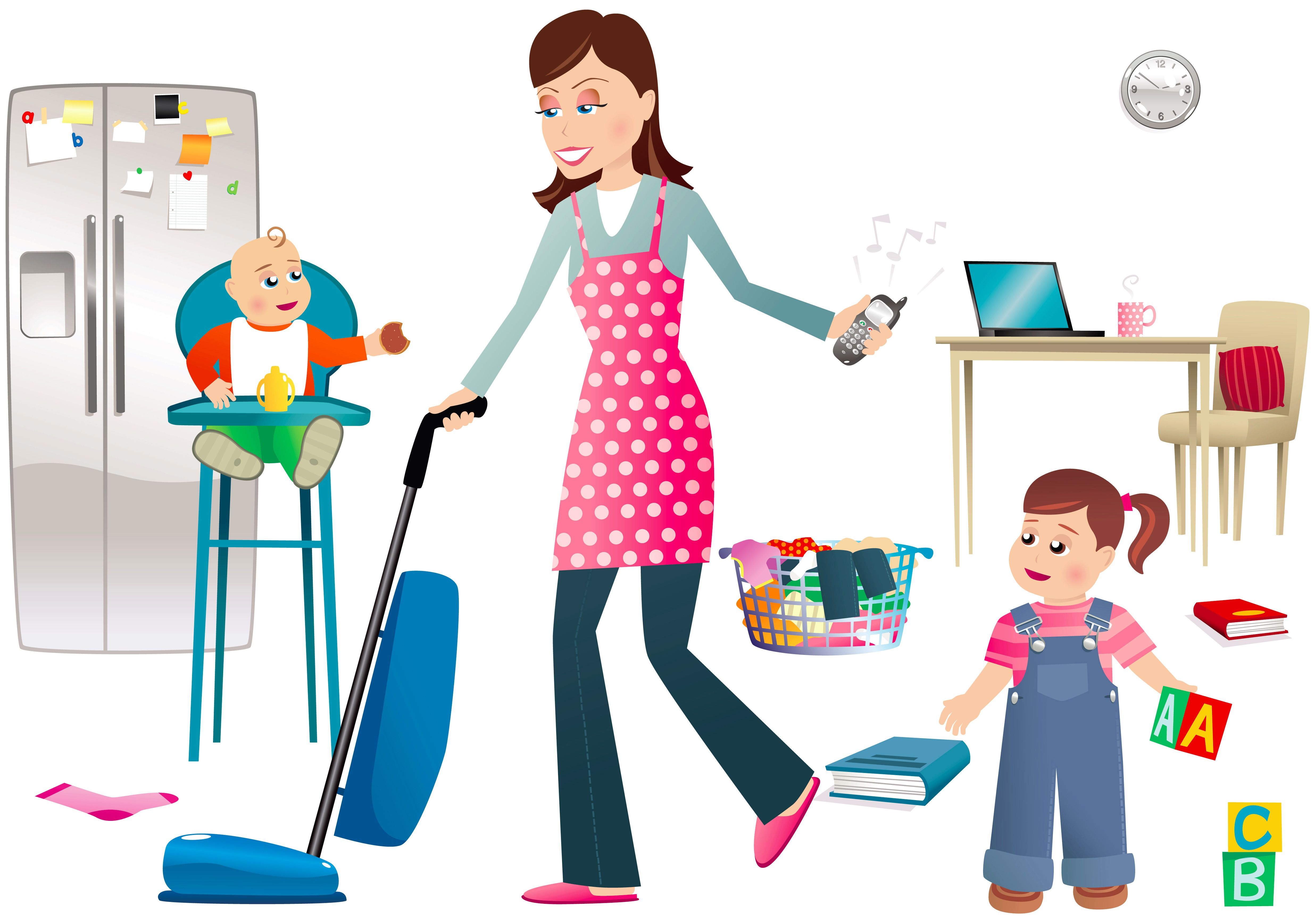 Mommy clipart busy mom #6