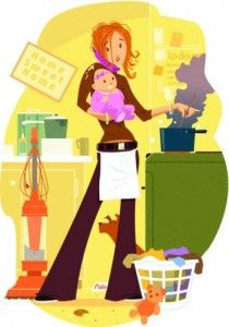 Mommy clipart busy mom #10