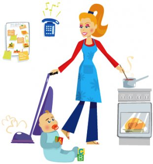 Mommy clipart busy mom #14
