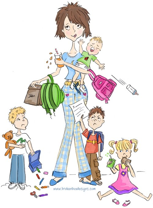 Mommy clipart busy mom #5