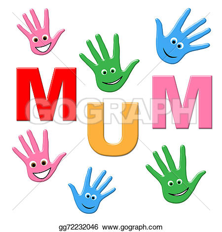 Mommy clipart childhood Mamma and Mum Ma Stock