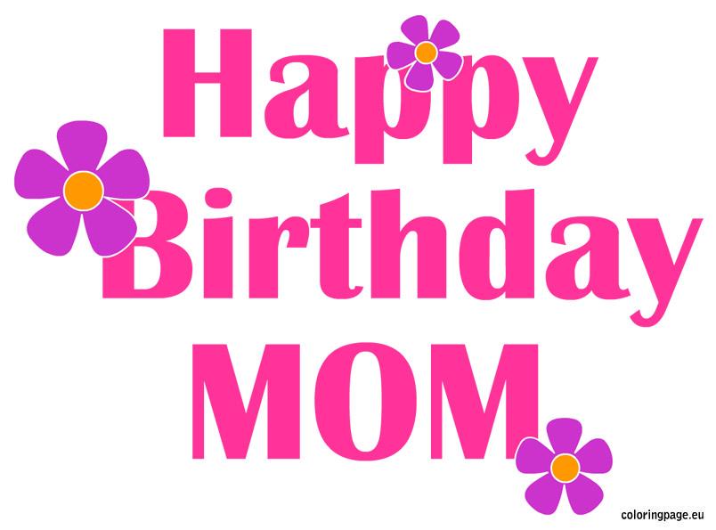 Mommy clipart happy mom Mom Happy  Birthday birthday