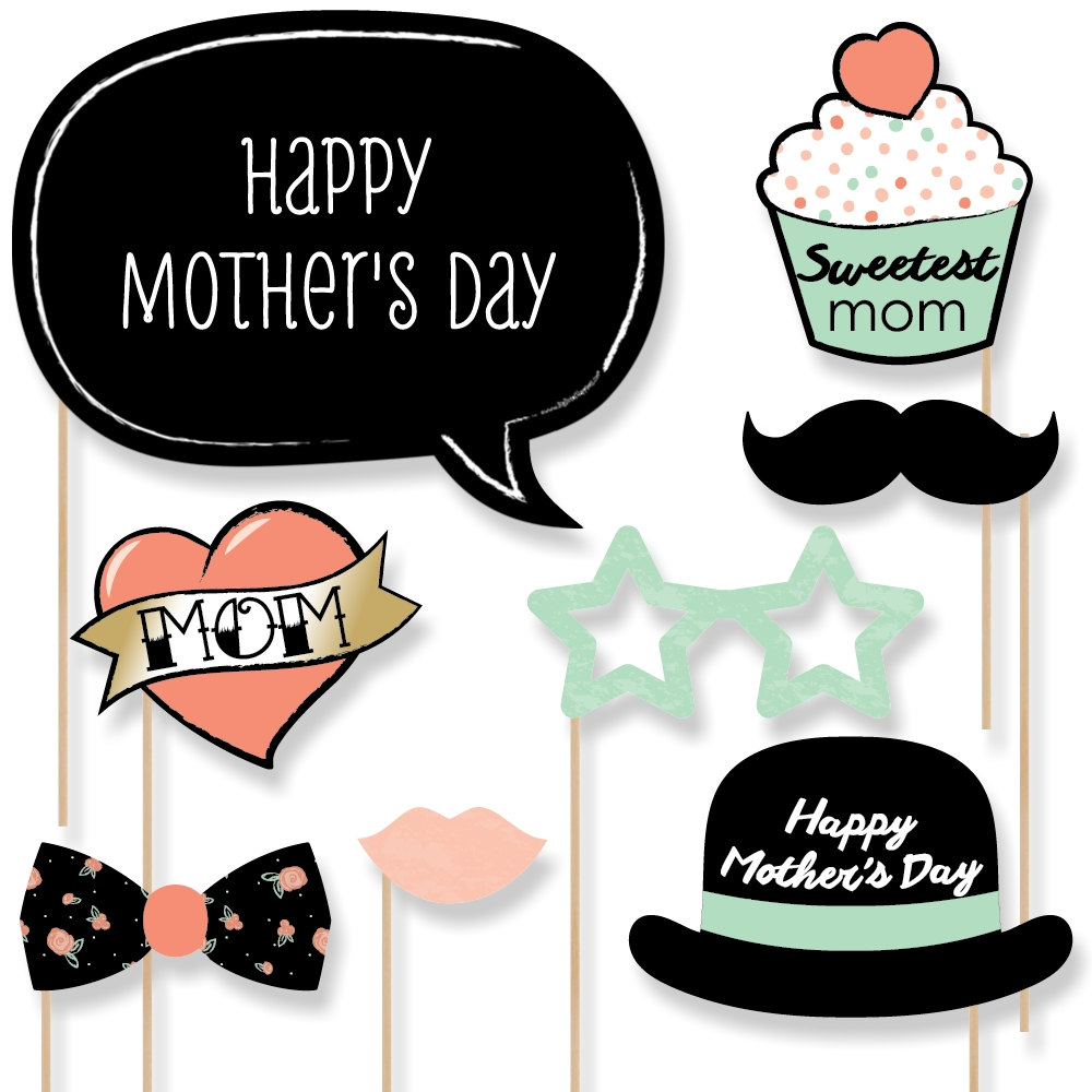 Mommy clipart hat Photo mom Booth Etsy Mustache