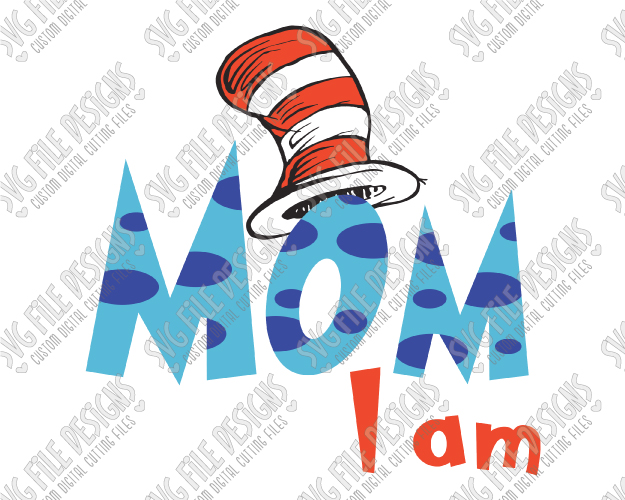 Mommy clipart hat The Matching I Hat SVG