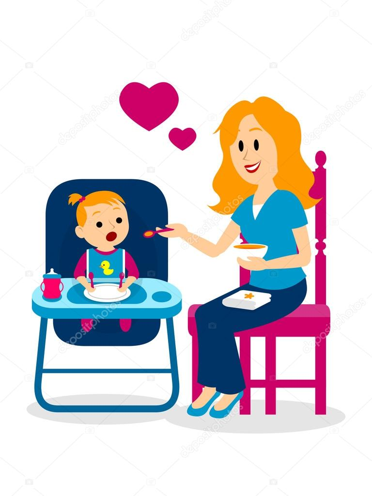 Mommy clipart her Vector Vector — A mom