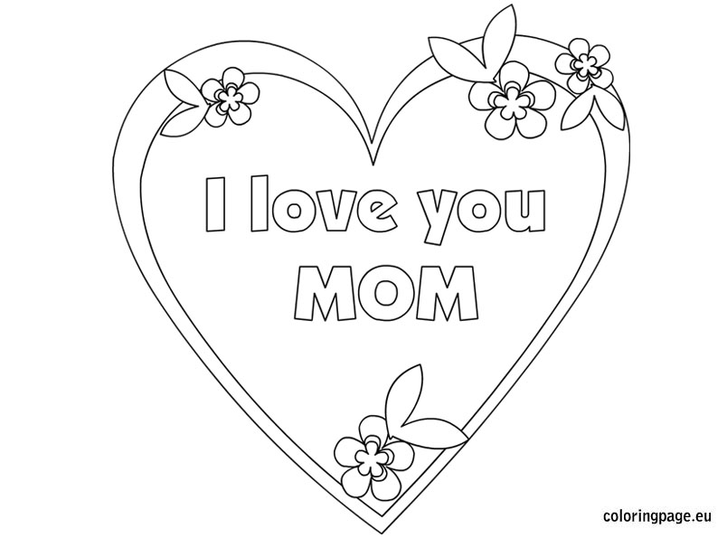 Mommy clipart i love you mom Coloring stamps love you mom