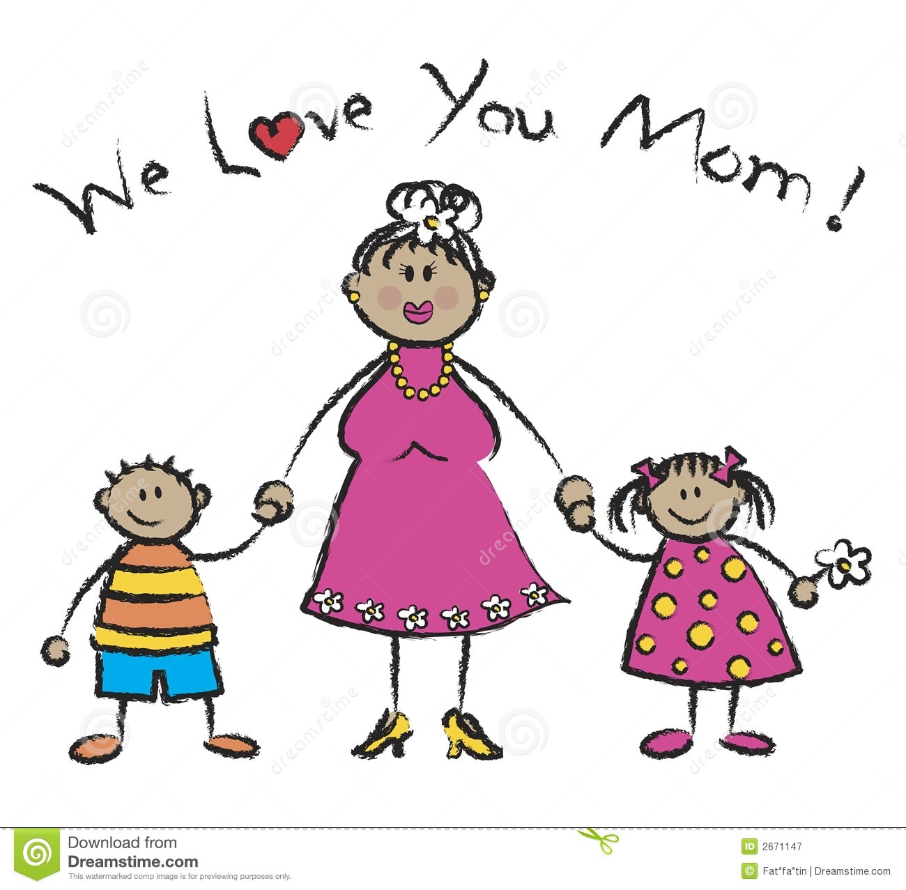 Mommy clipart i love you mom I i love mom love