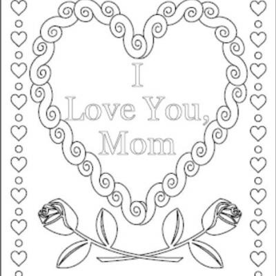 Mommy clipart i love you mom Pages Mom Love coloring You