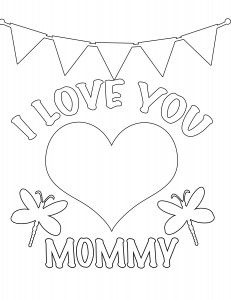 Mommy clipart i love you mom Digi Mother's coloring I Love