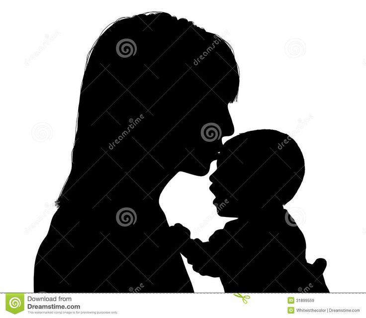 Mommy clipart mom newborn Art art Kissing on and