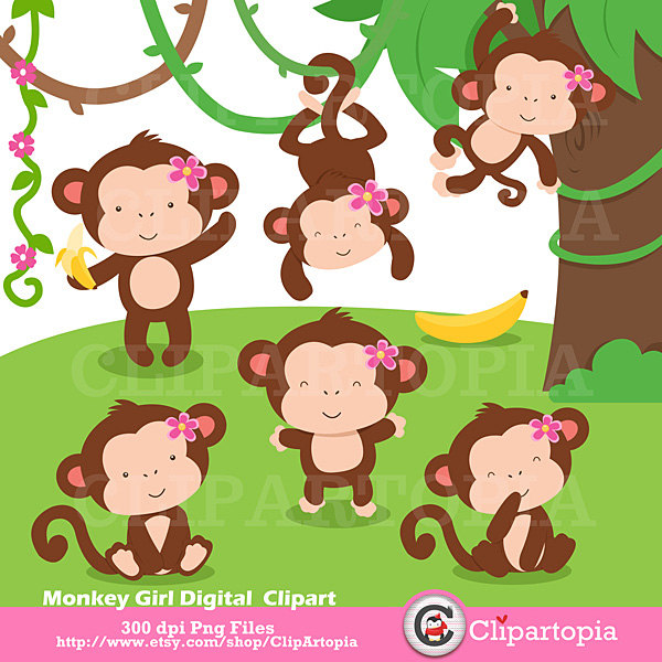 Mommy clipart monkey #15