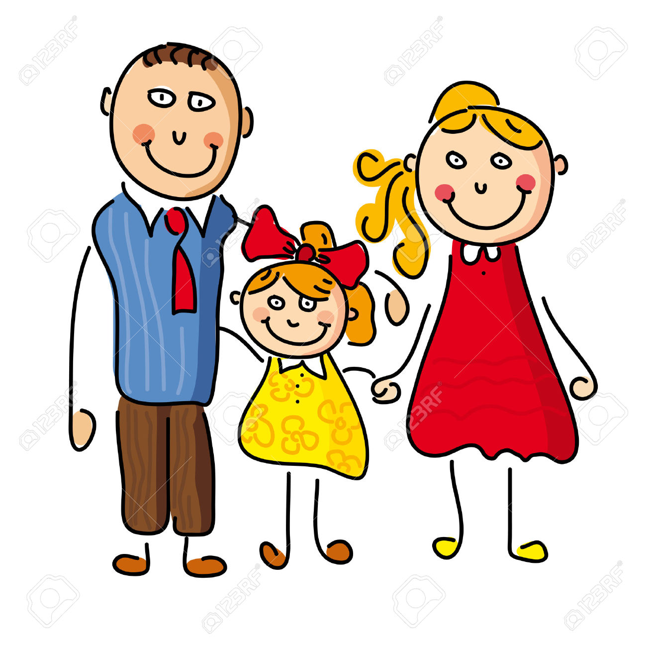 Mommy clipart mother daughter Clipart The Best Dad and
