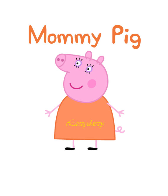 Mommy clipart pig #14