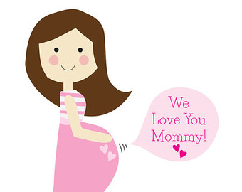 Mommy clipart pregnant mom #13