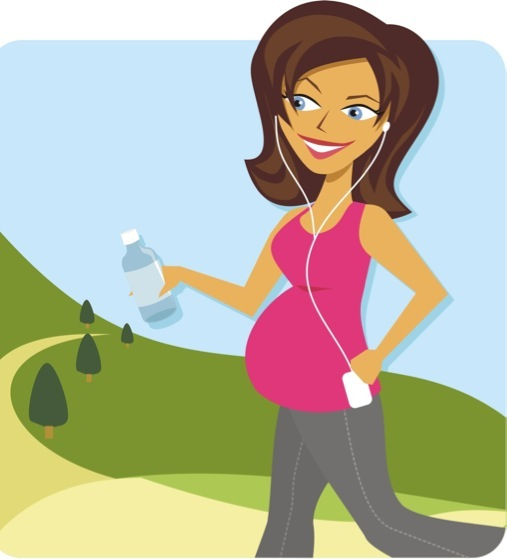 Mommy clipart pregnant mom #11