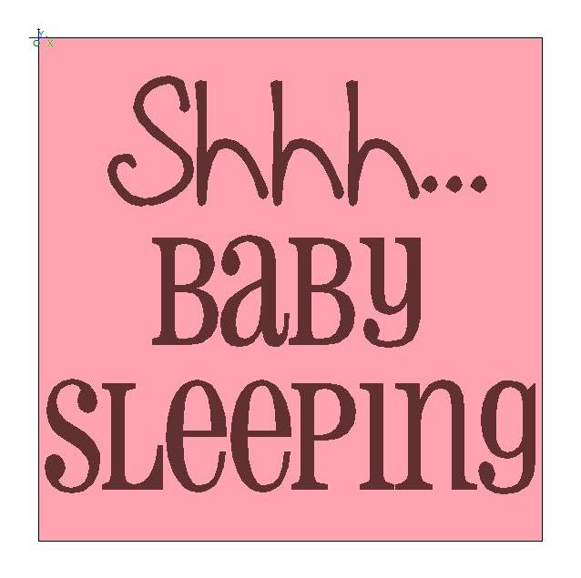 Mommy clipart shh Shh Mom Baby > Sleep