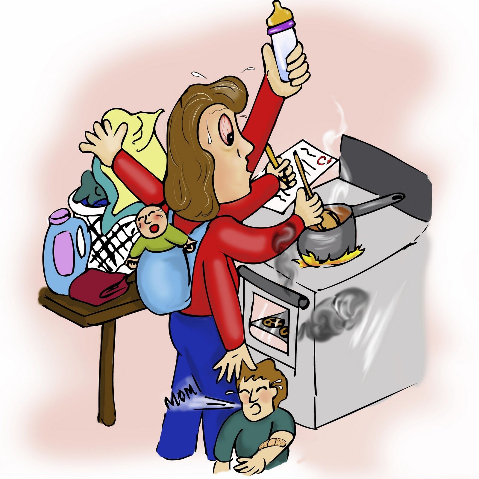 Mommy clipart shh Busy to mom boardrooms diapers