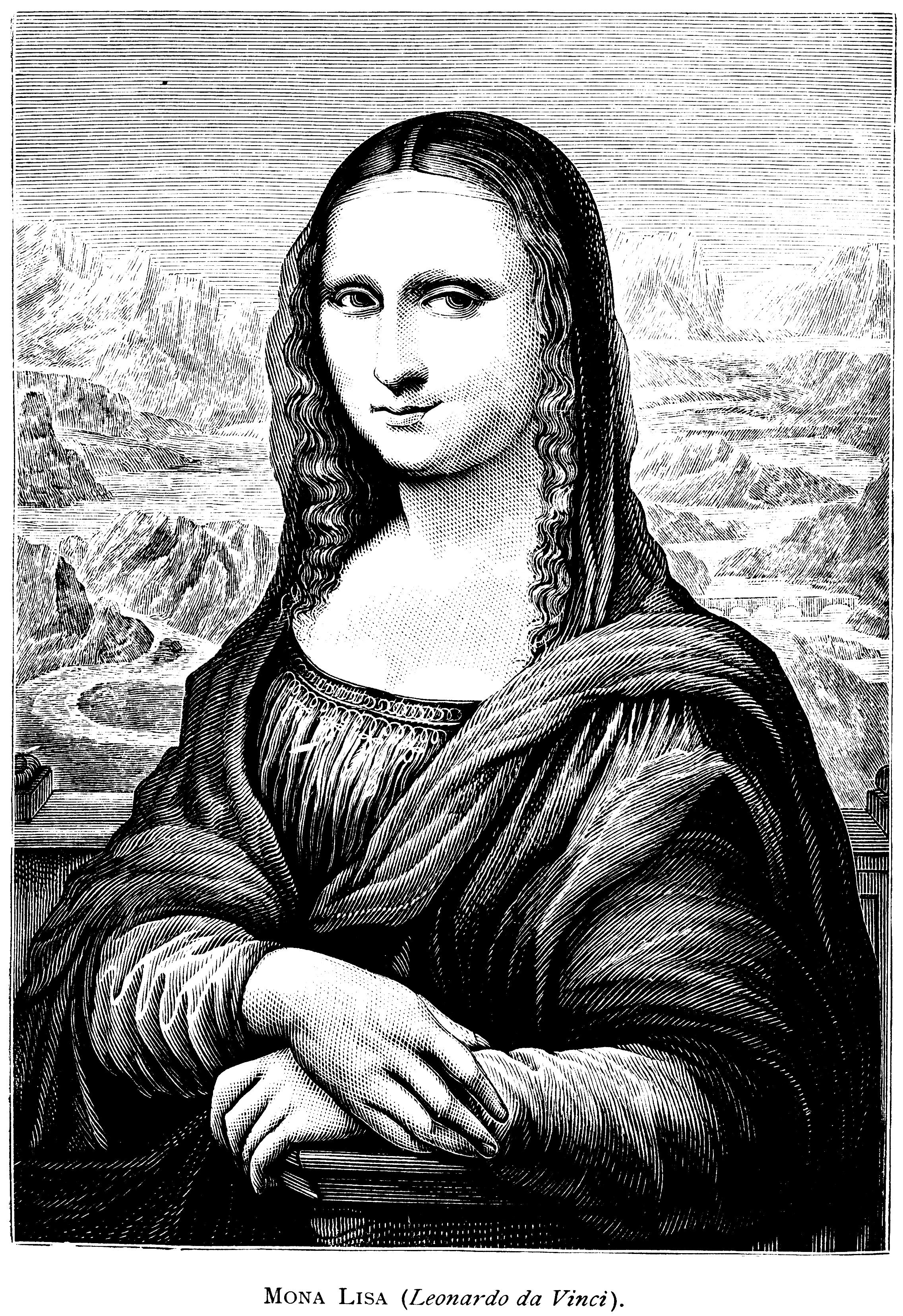 Mona Lisa clipart Lisa Mona The Miss Lisa
