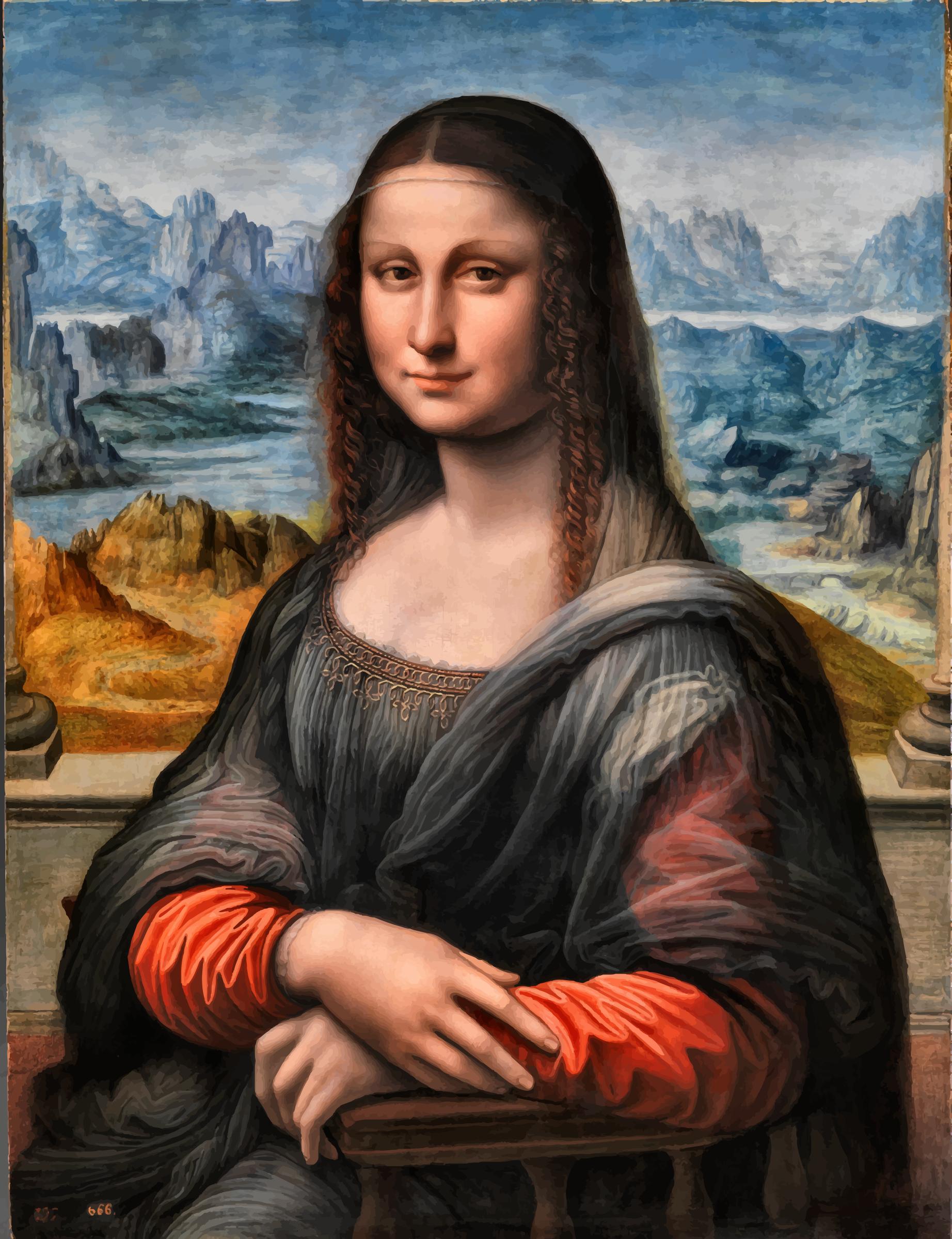 Mona Lisa clipart Enhanced Lisa Contrast Prado Contrast