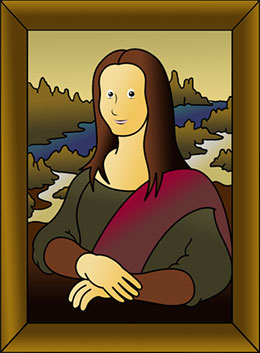Mona Lisa clipart cartoon How big picture draw