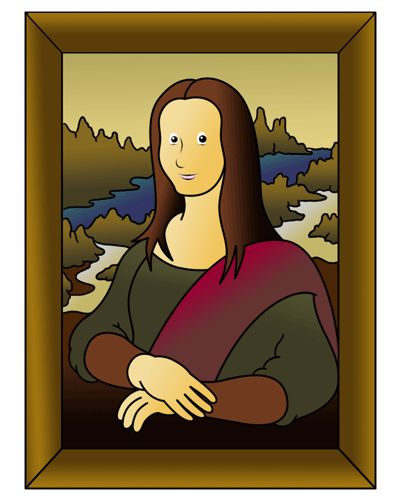 Mona Lisa clipart cartoon 93 Lisa to Mona Lisa