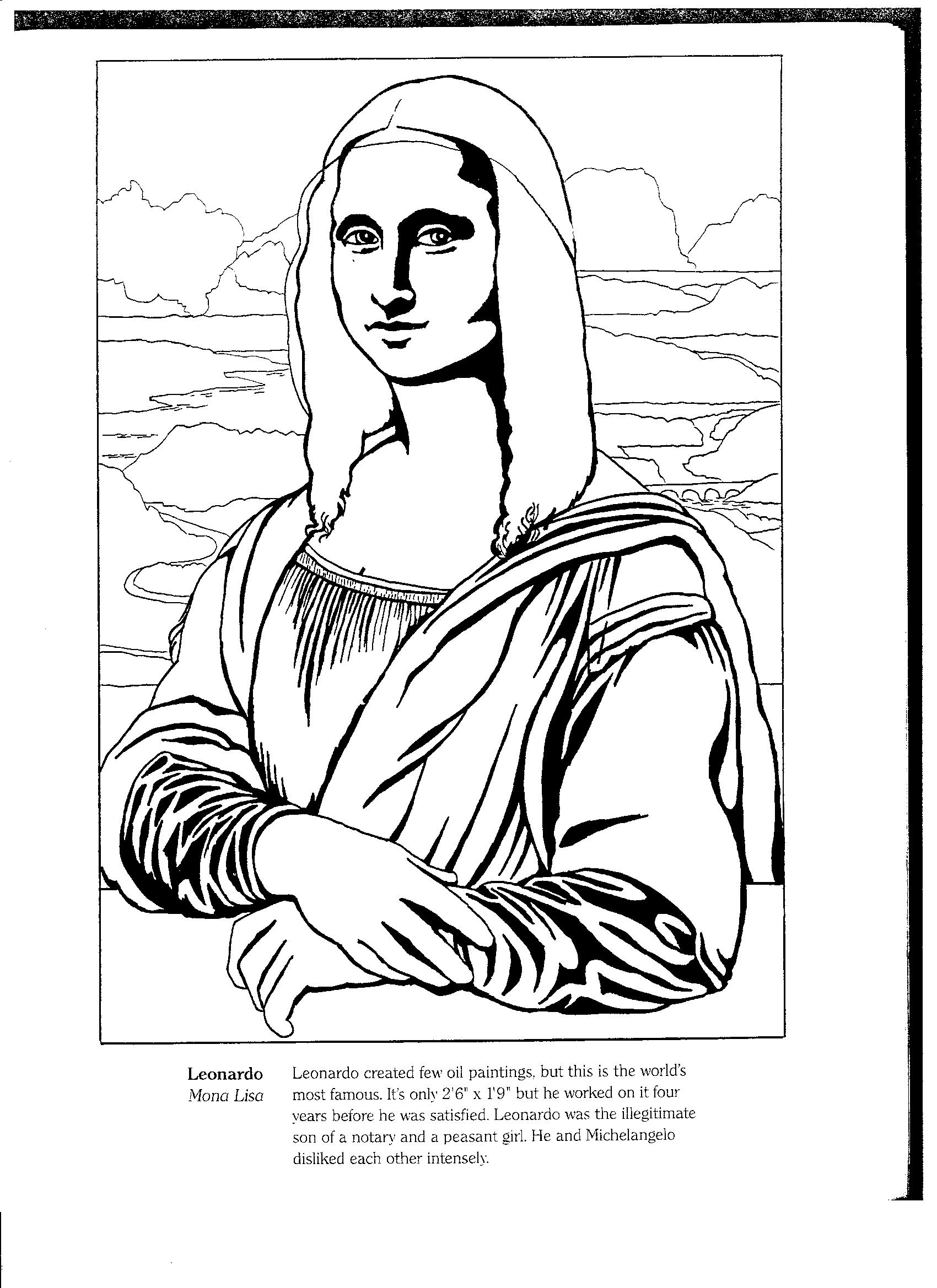 Renaissance clipart mona lisa #10