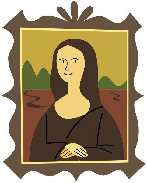 Renaissance clipart mona lisa #4
