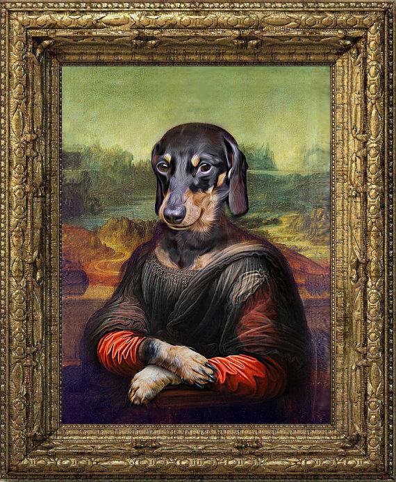 Mona Lisa clipart renaissance Custom Lisa Pet Portraits Portrait