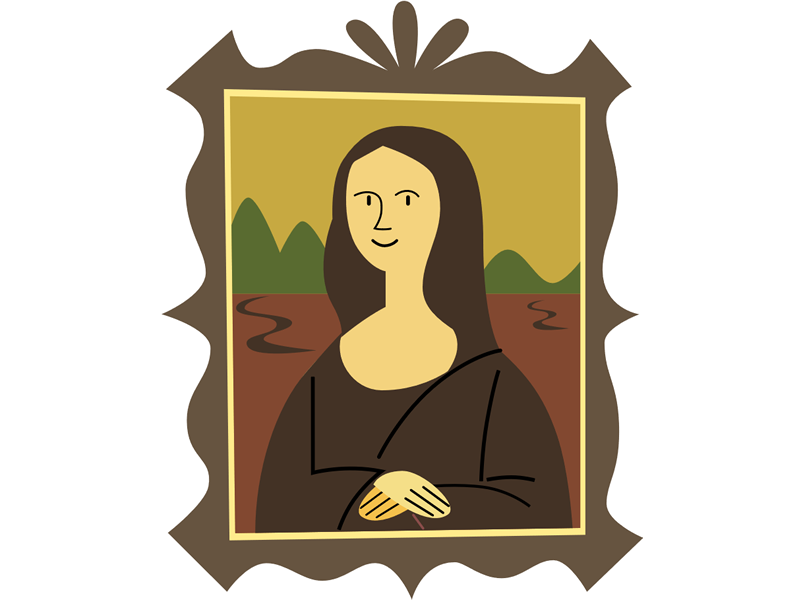 Renaissance clipart mona lisa #12