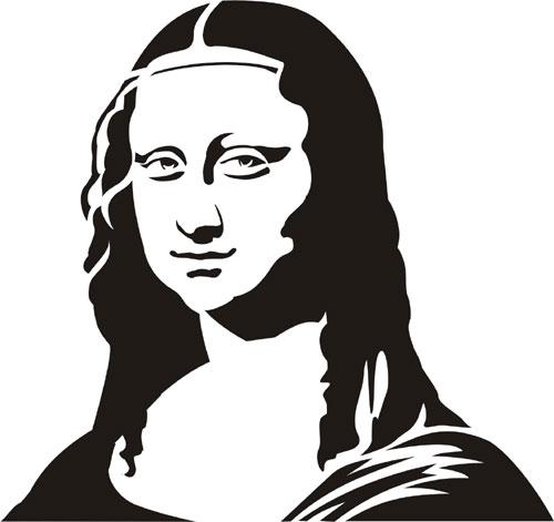 Mona Lisa clipart renaissance Stencil Mona Mona Inspiration Mona