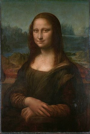 Mona Lisa clipart renaissance Inches 1/4 Vinci oil Lisa